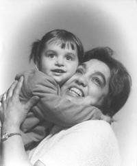 Emilie Machálková - with her granddaughter Petra