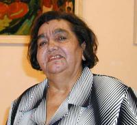 Emilie Machálková during introducing the book Romany women memoir´s (2005)