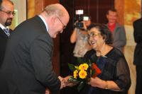 "Emilie Machálková gets ""Freedom and democracy"" medal (2012)"