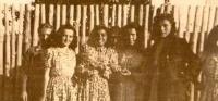 Emilie Machálková with her friends