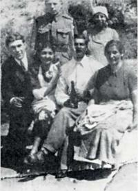 Cousin Eduard with his parents and sisters - they all died in Osvětim