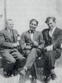 Uncle Tomáš (in the middle) with his schoolmates from the faculty of law