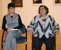 Karolína Kozáková (on the left) and Emilie Machálková, the authors of the book Romany women´s memoirs  (2005)