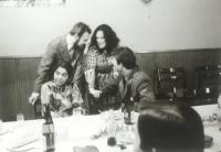 Mrs. Homolková at the party