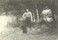 Emilie Machálková as a teen
