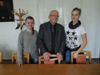 Pavel Fried at a meeting with students - photos all together