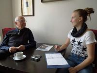 Pavel Fried at a meeting with students