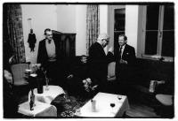 In the I. Klíma´s apartment together:  V. Havel, L. Vaculík,  K. Schwarzenberg, I. Klíma