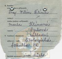 ID card of Ivan Klíma