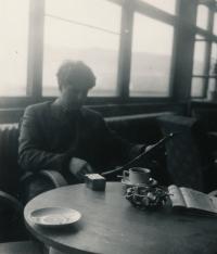 Ivan Klíma at Lipno Reservoir, 1957