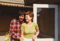 Ivan Klíma with his wife, 1983