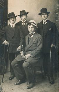 4 - The witness's father Josef Charvát with friends