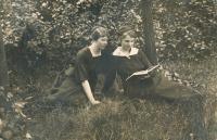 9 - the witness's mother Anastázie (left)