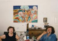 27 - the witness at home with her son Petr (late 1990s)