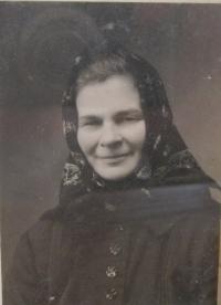 Terezie Adamcová (Trnavská) - mother of Mr. Adamec