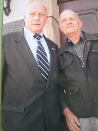 With grandson of Gen. Patton