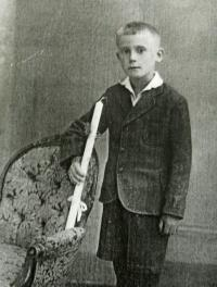 Josef during his first Holy Communion