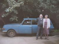 His wife and a Wartburg