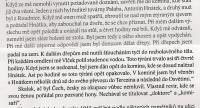 Úryvek z knihy - popisuje útrapy A. Hnátka ve vězení gestapa