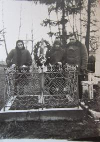 The grave of two of her siblings in Podlísky, They died in their childhood