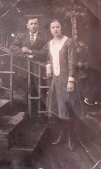 Father Alexander with his sister Věra when they were young