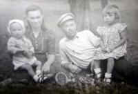 The Lucuk family in Volhynia (from left Rostislav, Věra, Alexander, Slavěna)