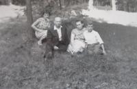 The Lucuk family in the Park in Rovno in 1959 (from the left - Věra, Alexander, Věra, Rostislav)