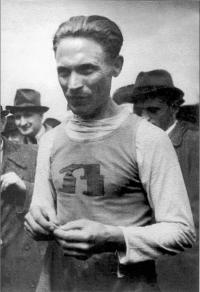 """Jan """"Ali"""" Haluza in Baťa sporting costume"""