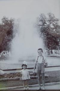 Gabriela Bairová Stoyanová with her brother Božidar