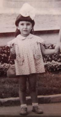 Gabriela Bairová as a little girl