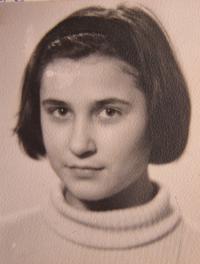 Gabriela Bairová - Stoyanová when she was 11 years old