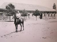 Her father Stefan Bairov in the military academy in Bulgaria