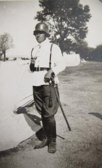 Her father Stefan Bairov in military uniform in 1945