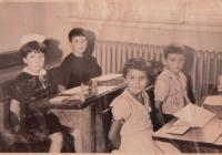 In a school in Sofia (Gabriela in the middle)