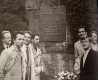 With polish students 1962