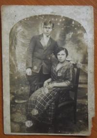 Wedding photo of the parents of Mr. Prochazka