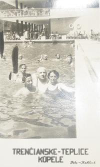 With parents at Trenčianské Teplice