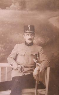 Father Jan Svačina Sr. in the Austro-Hungarian army