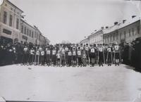 Ski race in Bystřice nad Pernštejnem, which was organized by the sports club in 1931