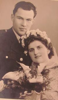 Karel Bažant with his wife Eva