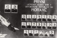 Graduation photographs of the 1st Aerial Patrol of the NSC in liberated Czechoslovakia, Brno, 1945