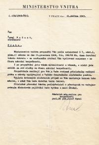 Propuštění ze Sboru národní bezpečnosti, květen 1949