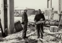 Building a block of flats in Malešice, 1970s