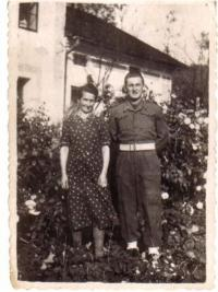 1945 With Mother in Žermanice
