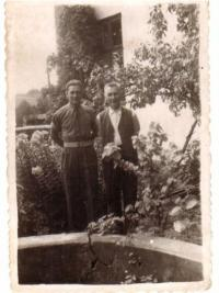 1945 With Father in Žermanice