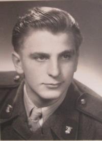 Adolf Gabriel during military service