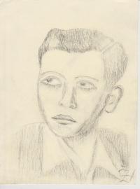 Josef Bachura, drawing by Žofie Horáčková