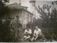 Josef Bachura with his wife in Lahovice