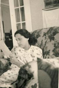 Mother Jiřina Gjurićová in the summer 1943