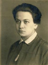 Aunt Růžena Vacková during the study